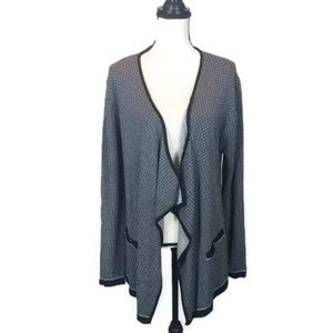 NWT! Jaclyn Smith Black & White Open Cardigan